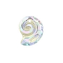 Swarovski 6731 Sea Snail Pendant Partly Frosted 14mm Crystal AB (1-Pc)