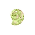Swarovski 6731 Sea Snail Pendant Partly Frosted 14mm Crystal Luminous Green (1-Pc)