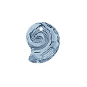 Swarovski 6731 Sea Snail Pendant Partly Frosted 14mm Crystal Blue Shade (1-Pc)