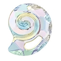 Swarovski 6731 Sea Snail Pendant Partly Frosted 28mm Crystal AB (1-Pc)