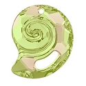 Swarovski 6731 Sea Snail Pendant Partly Frosted 28mm Crystal Luminous Green (1-Pc)