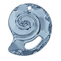 Swarovski 6731 Sea Snail Pendant Partly Frosted 28mm Crystal Blue Shade (1-Pc)