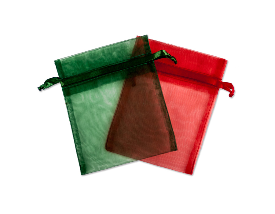 Organza Bags Holiday Mix 3x4 (10-Pcs)