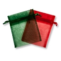 Organza Bags Holiday Mix 4x5 (10-Pcs)