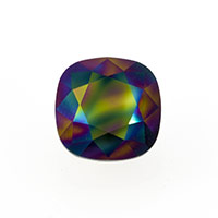 Swarovski 4470 12mm Crystal Rainbow Dark Cushion Cut Square Fancy Stone (1-Pc)