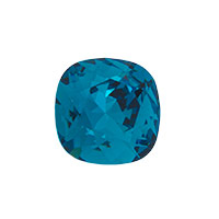 Swarovski 4470 12mm Indicolite Cushion Cut Square Fancy Stone (1-Pc)
