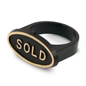 Black Sold Signs for Ring Fingers (50-Pcs)