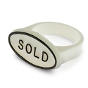 White Sold Signs for Ring Fingers (50-Pcs)