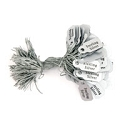 'Sterling Silver' String Tags (100-Pcs)