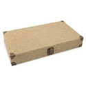 Solid Top Burlap Jewelry Storage Case (1-Pc)