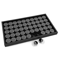Black Tray with 50 Gem Coin Cups