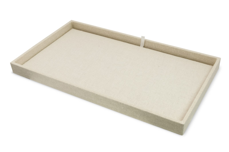 Linen Project Tray And Pad Jewelry Drawer Organizer Trays