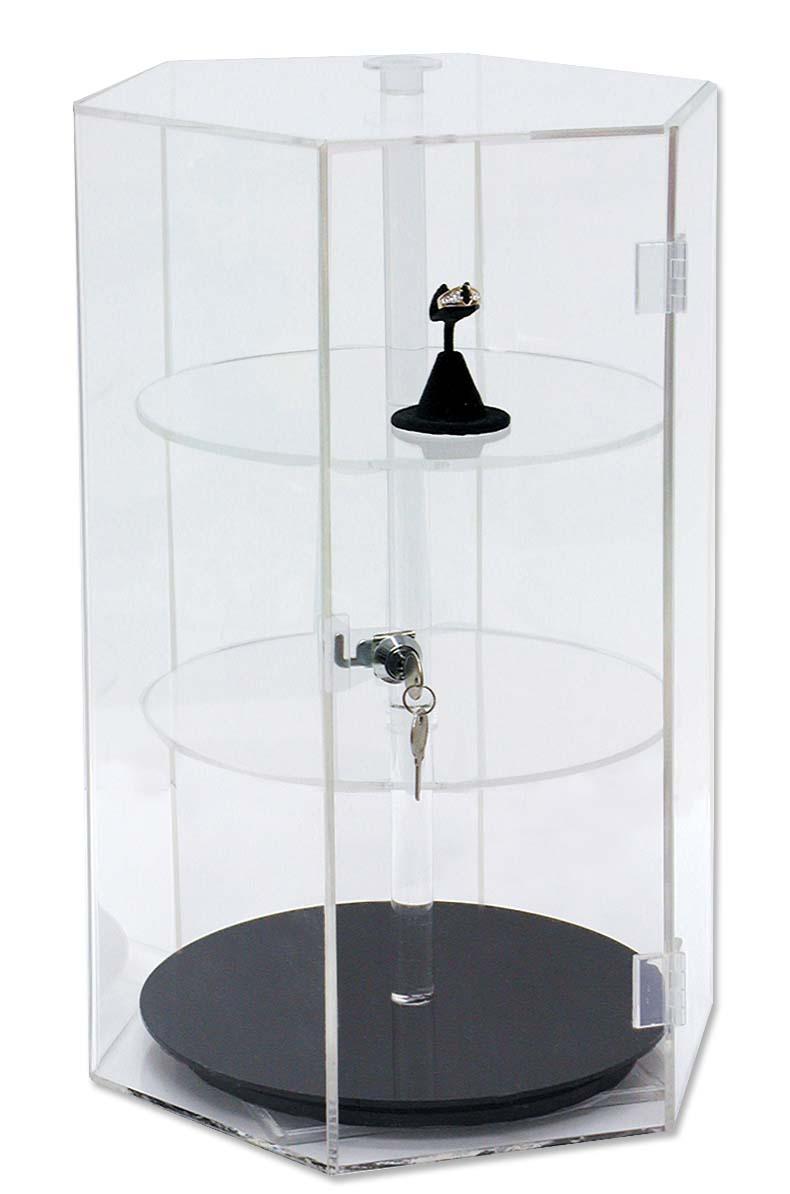 Acrylic Revolving Countertop Showcase Jewelry Display
