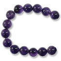 Amethyst Round Beads Medium Purple 10mm (16