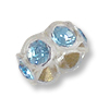 Swarovski Rondelle Bead 5.5mm Aquamarine Transparent Plastic (1-Pc)