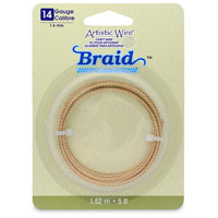 Artistic Wire 14 Gauge Non-Tarnish Brass Braid (5-Ft)
