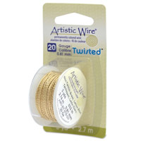 Artistic Wire 20 Gauge Twisted Non-Tarnish Brass (3-Yds)