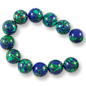 Imitation Azurite Round Beads 12mm (16