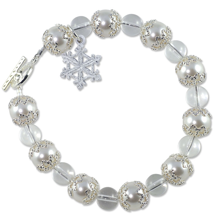 Snow Crystals Bracelet Project