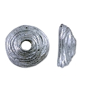 Bead Cap - Swirl 4mm Pewter Antique Silver Plated (1-Pc)
