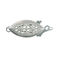 Filigree Clasp 19x8mm Sterling Silver (1-Pc)