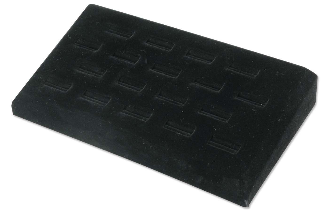black velvet ring jewelry display tray for 18 rings