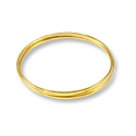 Flat Bracelet Memory Wire Gold Plated Steel 1/3oz.