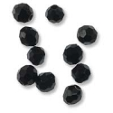 Black Spinel 3mm Faceted Round (10-Pcs)