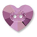 Swarovski Heart Button 3023 14mm Crystal Lilac Shadow (1-Pc)