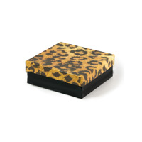 Leopard Cotton Filled Jewelry Box #34 (Each)