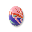 Imitation Rainbow Calsilica Cabochon 14x10mm