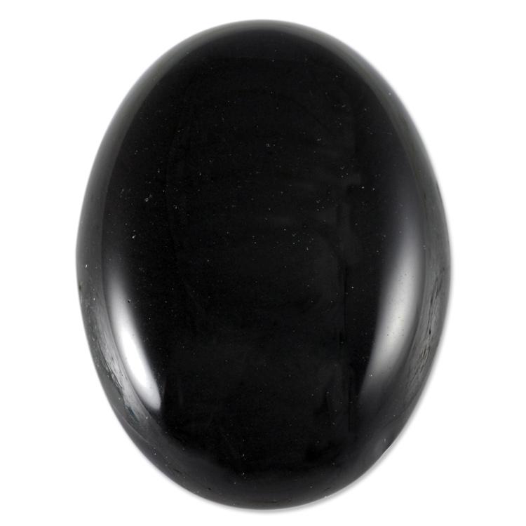 Black Obsidian Oval Cabochon 25x18mm