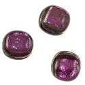 Dichroic Glass Free-Form Cabochon 15-16mm Purple (1-Pc)