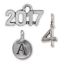 Letter and Number Charms