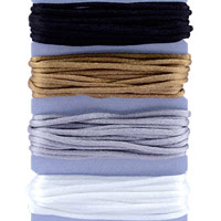 Satin Cord Color Assortment Black/Gold/Silver/White
