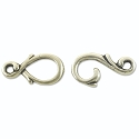 Hook & Eye Vine Clasp 23x7mm Pewter Antique Silver Plated (1-Pc)