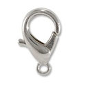 Lobster Claw Clasp 14x7mm Silver Plated (1-Pc)