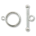 Toggle Clasp 17x14mm Silver Plated (Set)