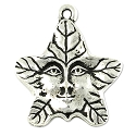 Tree Spirit Charm 21.75x19mm Pewter Antique Silver Plated