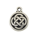 Celtic Charm 15mm Pewter Antique Silver Plated (1-Pc)