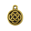 Celtic Charm 15mm Pewter Antique Gold Plated (1-Pc)