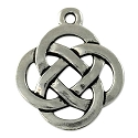 Celtic Open Weave Round Pendant 19mm Pewter Antique Silver Plated