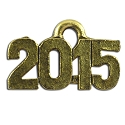 2015 Charm 15x9mm Pewter Antique Gold Plated (1-Pc)