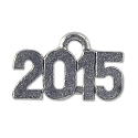 2015 Charm 15x9mm Pewter Antique Silver Plated (1-Pc)