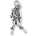Zombie Charm 26x12mm Pewter Antique Silver Plated (1-Pc)