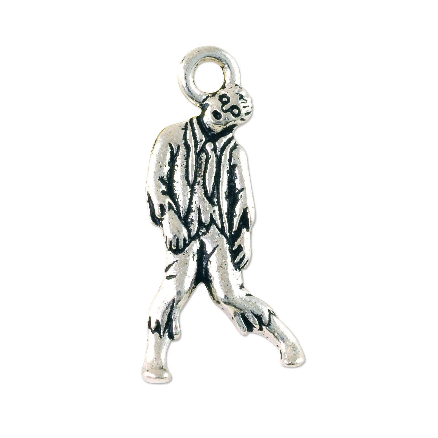 tierracast zombie charm 26x12mm pewter antique silver