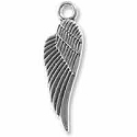 Wing Charm 29x8.5mm Pewter Antique Silver Plated (1-Pc)