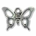Butterfly Charm 12x7mm Pewter Antique Silver Plated (1-Pc)