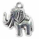 Elephant Charm 20x19mm Pewter Antique Silver Plated (1-Pc)