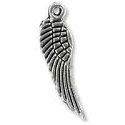 Wing Charm 17x5mm Pewter Antique Silver Plated (1-Pc)